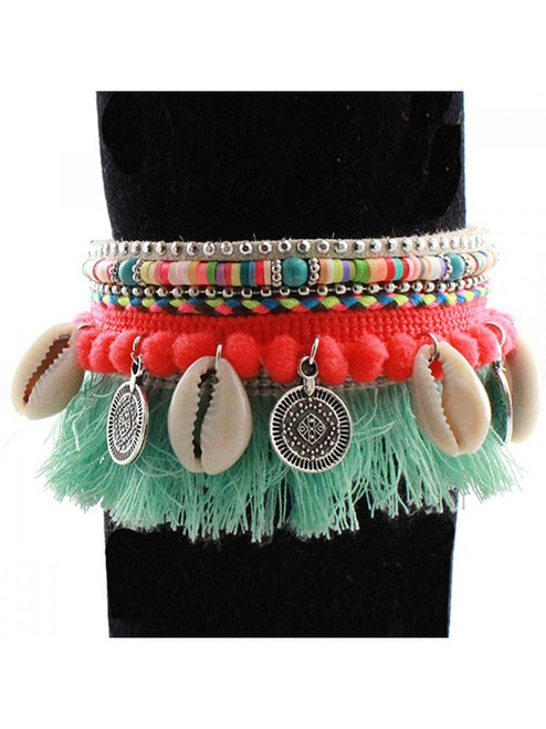 Fashion Tassel & Shell Bracelet