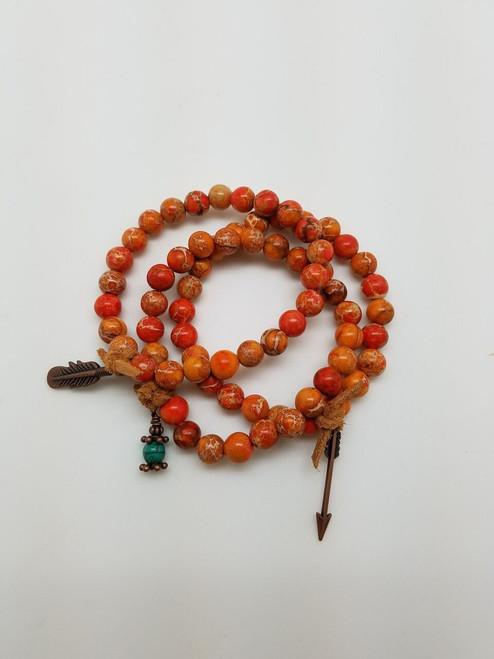 Orange Agate Stretch Bracelet