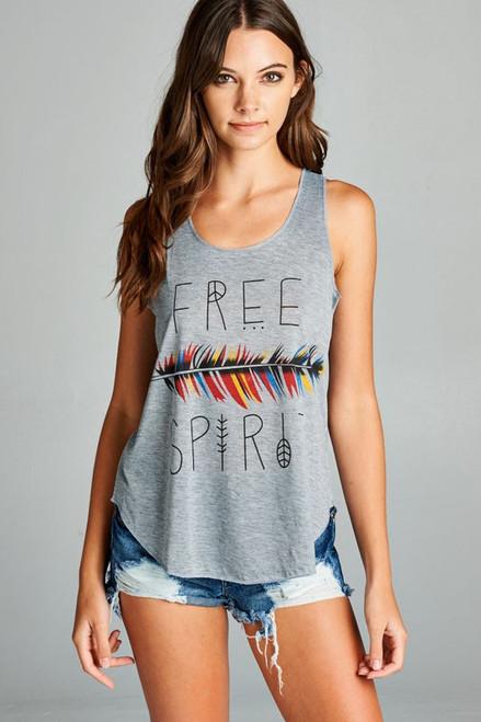 Free Spirit print tank top