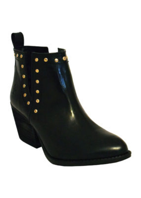 LADIES BOOTIE BLACK R-TOE