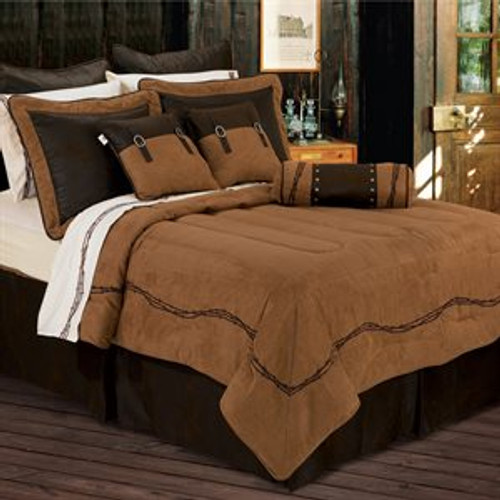 Faux Suede with Embroidered Barbwire Full Set