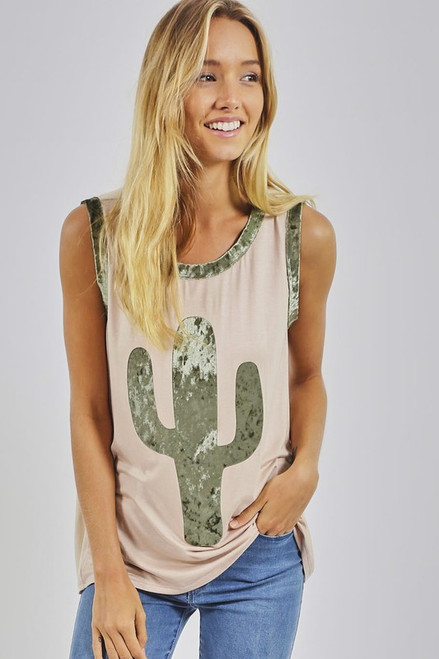 CACTUS SLEEVELESS KNIT TANK