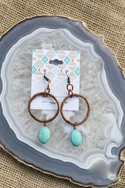 RING W/ TURQUOISE DROP EARRINGS