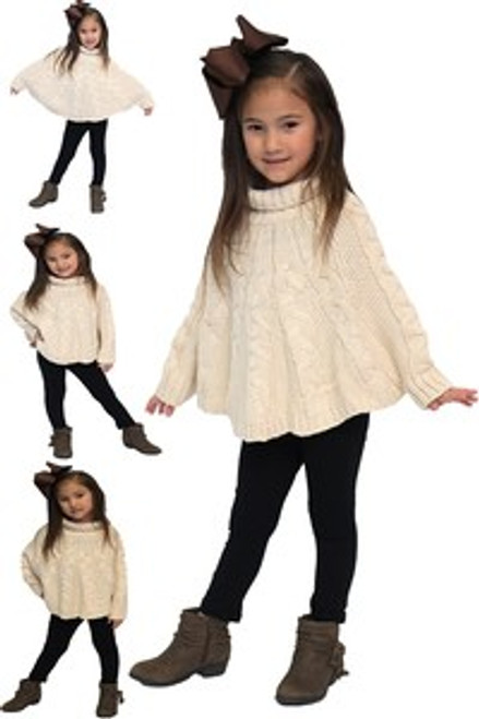 CUTE HANDMADE TURTLE NECK PONCHO
