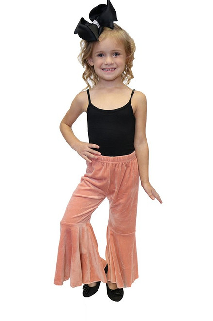 GIRLS ROSE PINK BELL BOTTOM PANTS
