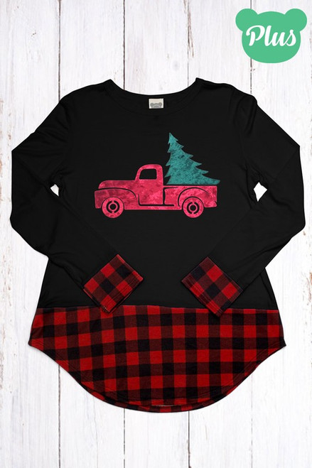 PICKUP TRUCK W/ CHRISTMAS TREE