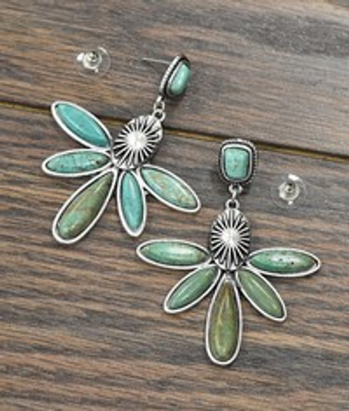 Natural Turuqoise Post Earrings