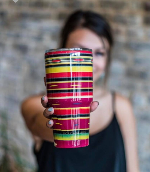 FUSCHIA SERAPE DOUBLE WALLED MUG
