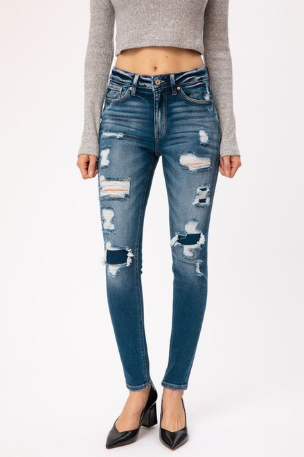 KAN CAN PATCHED DISTRESSED SKINNY