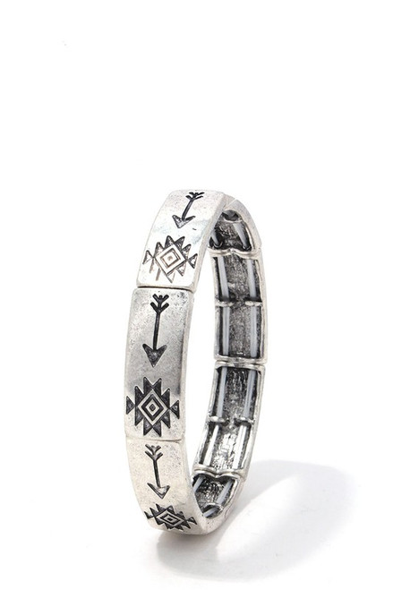 AZTEC METAL STRETCH BRACELET