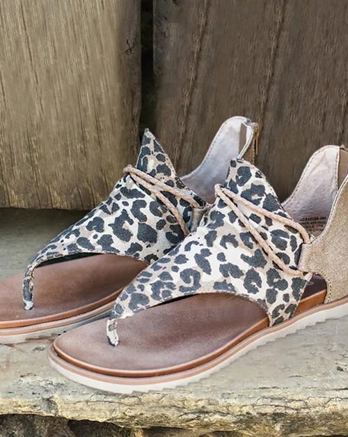 Leopard Sandal