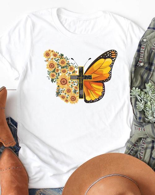 Faith Butterfly Graphic Tee