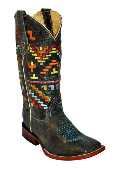 What a great boot!  Love the aztec embroidery!!
