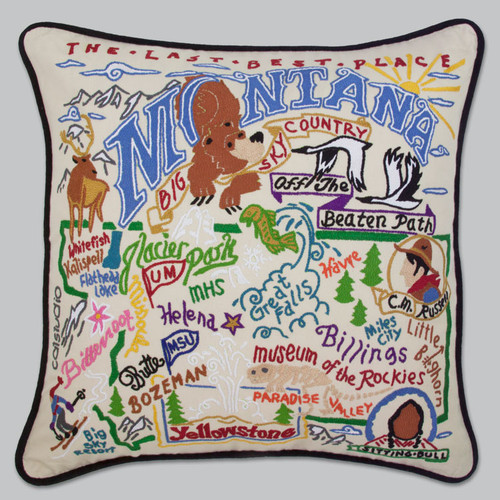 20X20 Hand embroidered Montana Pillow