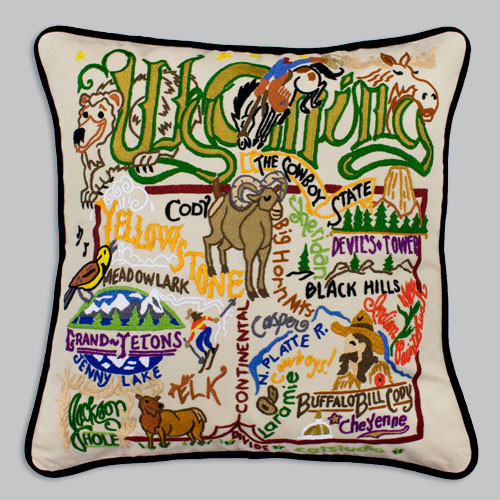 20X20 Hand embroidered pillow