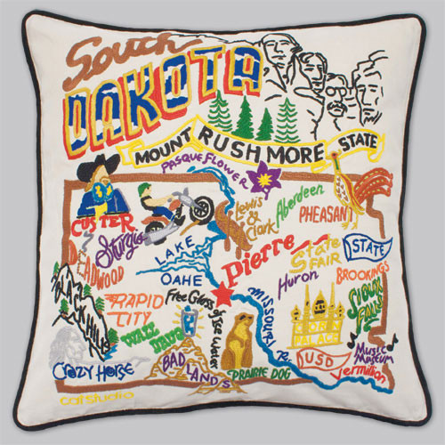20X20 Embroidered Pillow