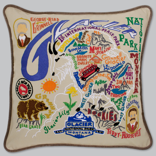 20x20 Hand Embroidered Retro Pillow