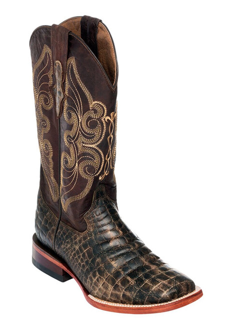 Ferrini Print Belly Croc in Distressed Chocolate