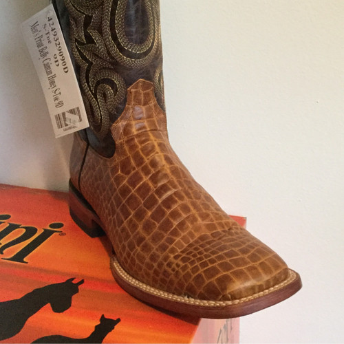 Ferrini Print Belly Caiman Honey - Men's Cowboy Boot