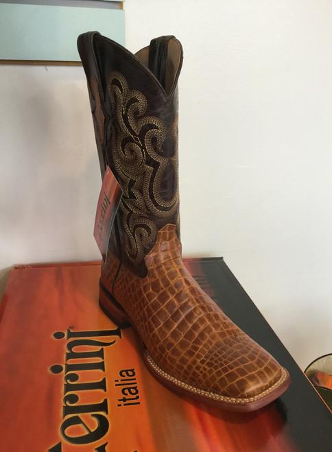 Ferrini Print Belly Caiman Honey - Men's Cowboy Boot