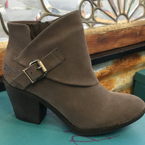 Blowfish Suba Western Ankle Bootie - Grey