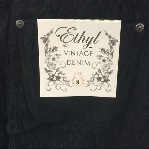 Ethyl Vintage Denim - Textured Black Stretch