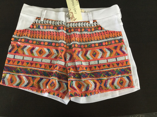Pink sequined shorts