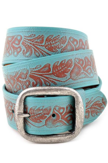 Turquoise floral tool belt