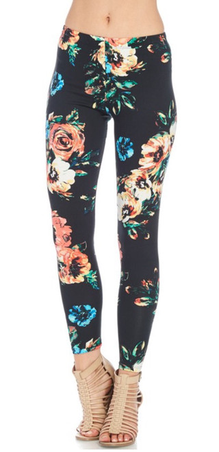 Floral Fitted Leggings
