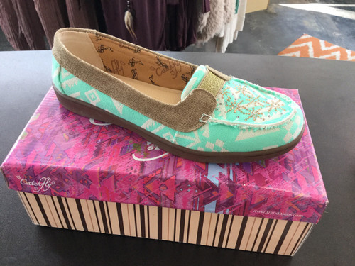 Catchfly Turquoise Aztec Loafer Shoe