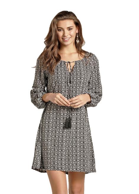 Rock & Roll Cowgirl Ikat Print Dress