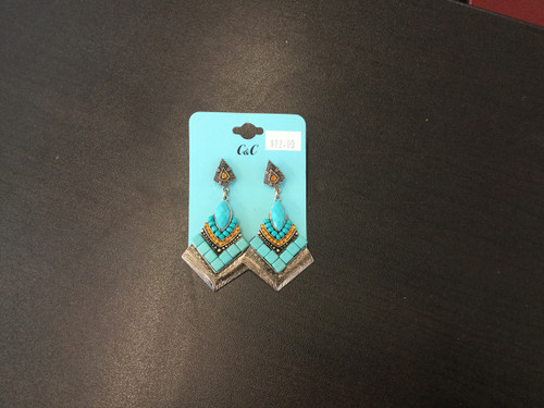 Silver,Turquoise Earrings