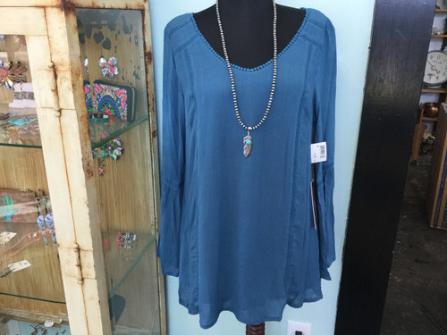 Rock and Roll Cowgirl Teal Tunic