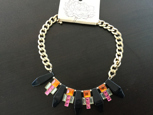 Multicolored Dangle Necklace Set