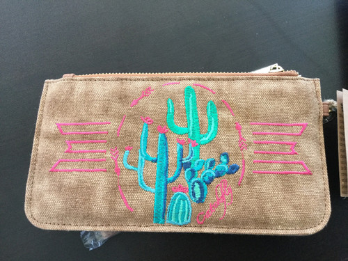 Catchfly Embroidered Cactus Wallet