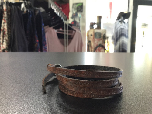 Good Works Brown Leather Bracelet