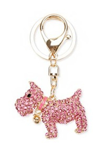 Westie Crystal Key Chain