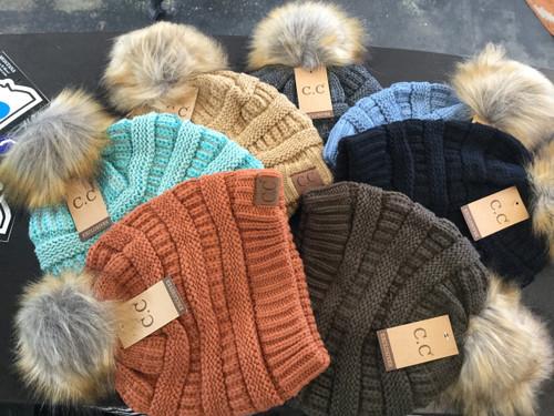 C.C. Fuzzy Pom Hat