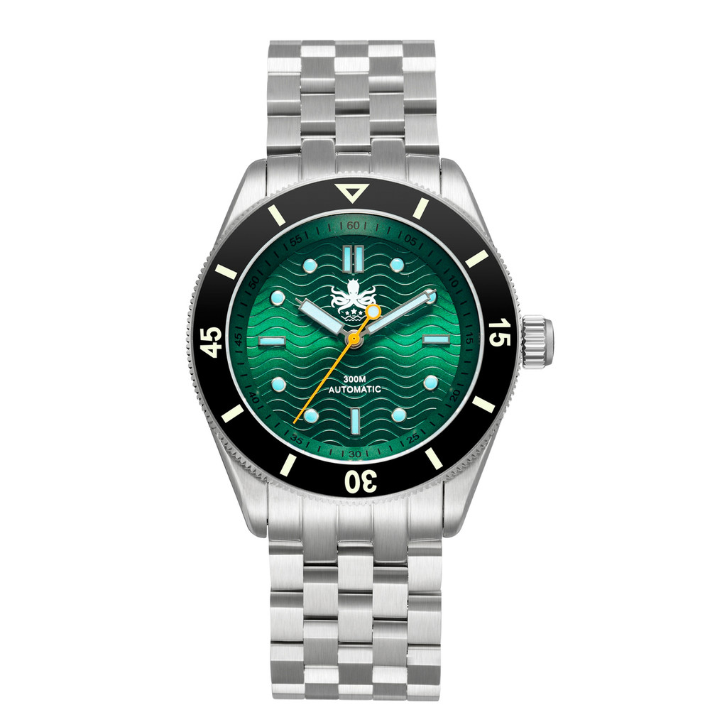 PHOIBOS WAVE MASTER PY009A 300M Automatic Dive Watch Green
