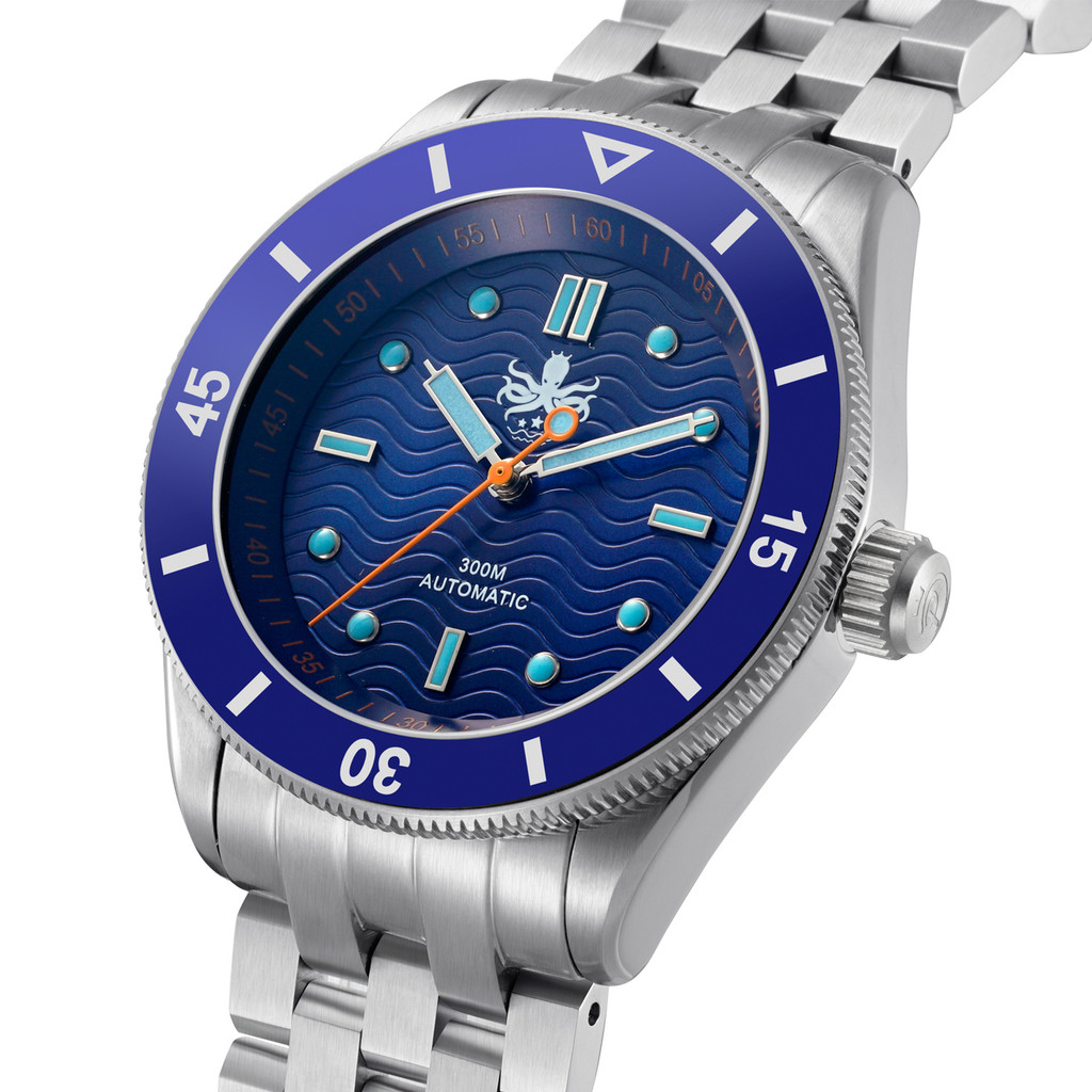 PHOIBOS WAVE MASTER PY009B 300M Automatic Dive Watch Blue