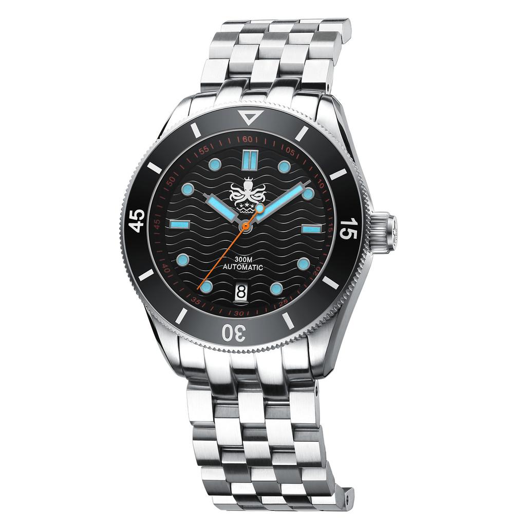 PHOIBOS WAVE MASTER PY010C 300M Automatic Dive Watch Black