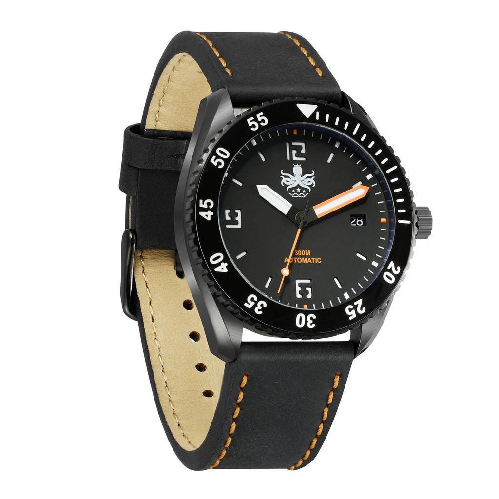 PHOIBOS REEF MASTER PY015D DLC 300M Automatic Diver Watch Orange