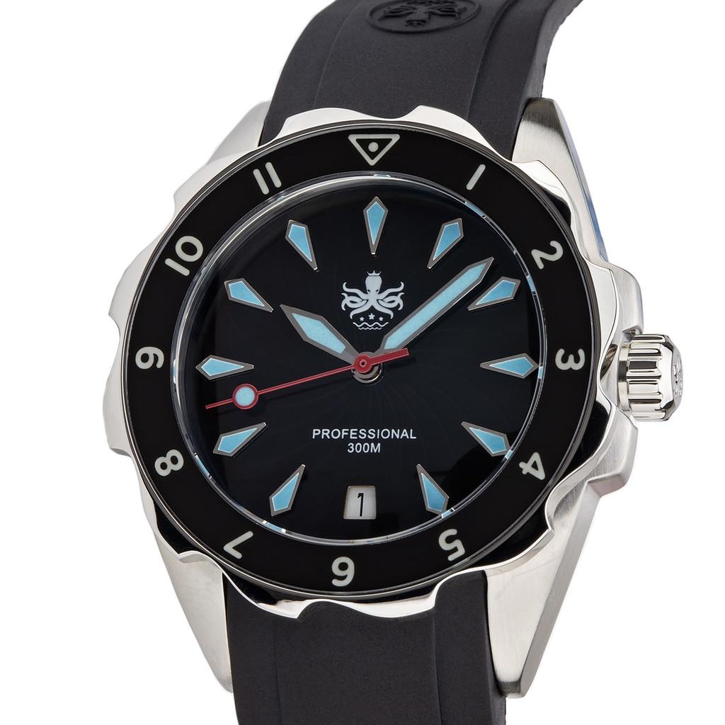 PHOIBOS SEA NYMPH 300M Lady Diver Watch PX021C Black