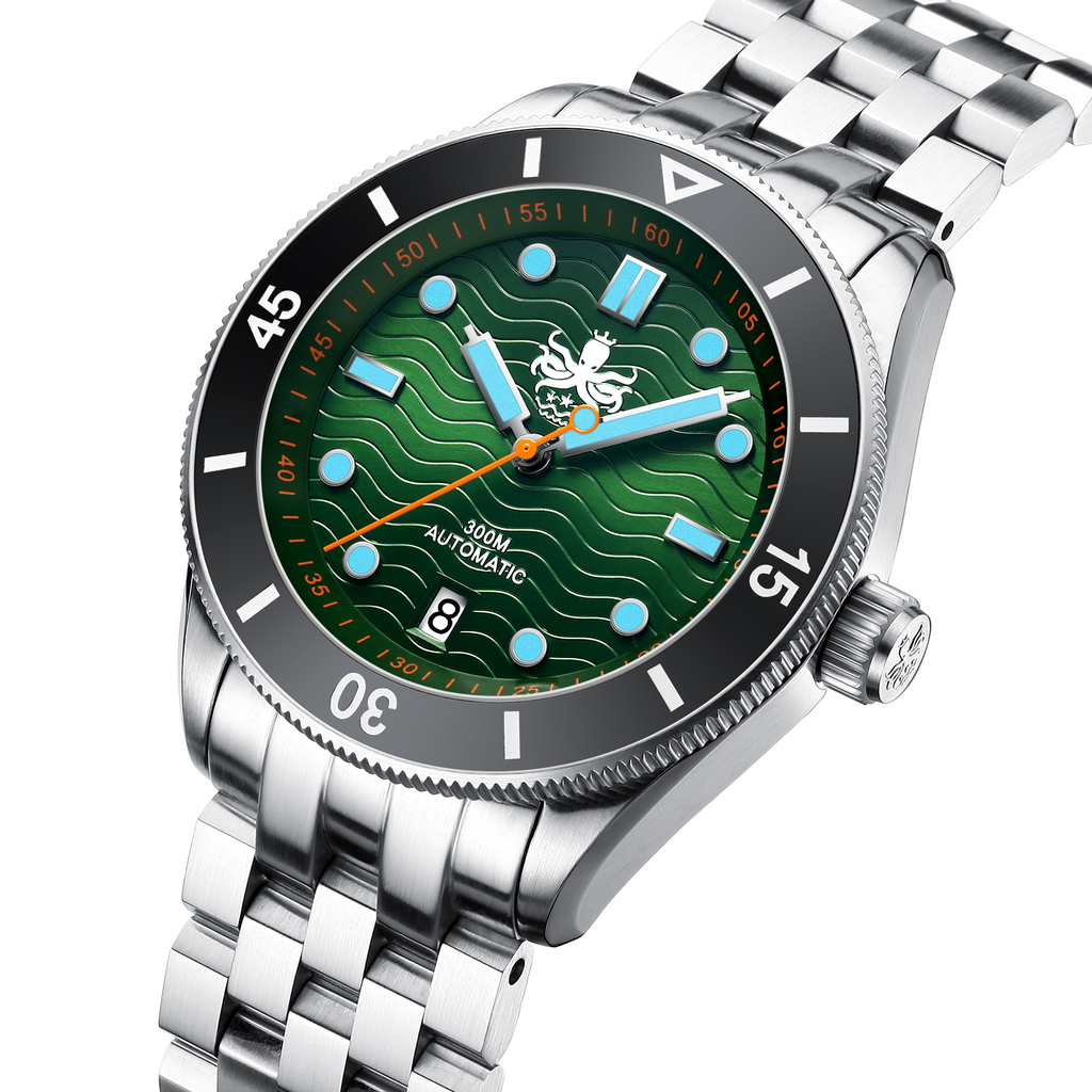 PHOIBOS WAVE MASTER PY010A 300M Automatic Dive Watch Green