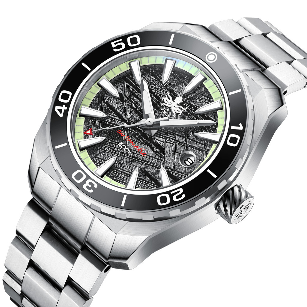 PHOIBOS Proteus 300M Automatic Diver Watch  PY024F Grey Meteorite