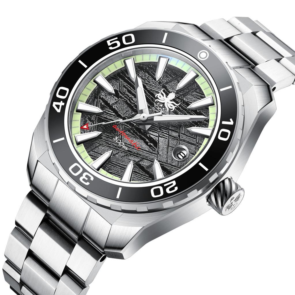 PHOIBOS Proteus 300M Automatic Diver Watch  PY024F Grey Meteorite