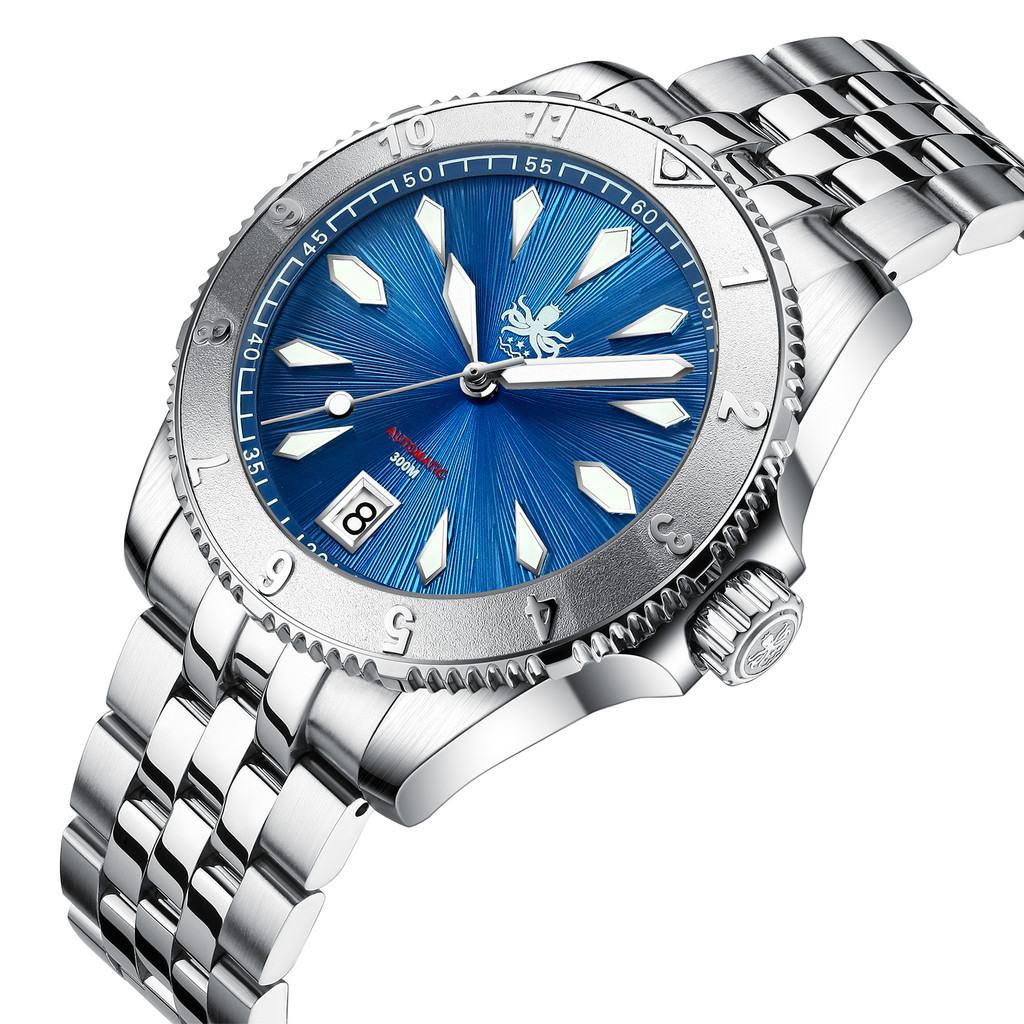 PHOIBOS Voyager 300M Automatic Diver Watch PY026B Blue