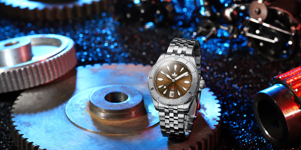 PHOIBOS Voyager 300M Automatic Diver Watch PY026D Brown