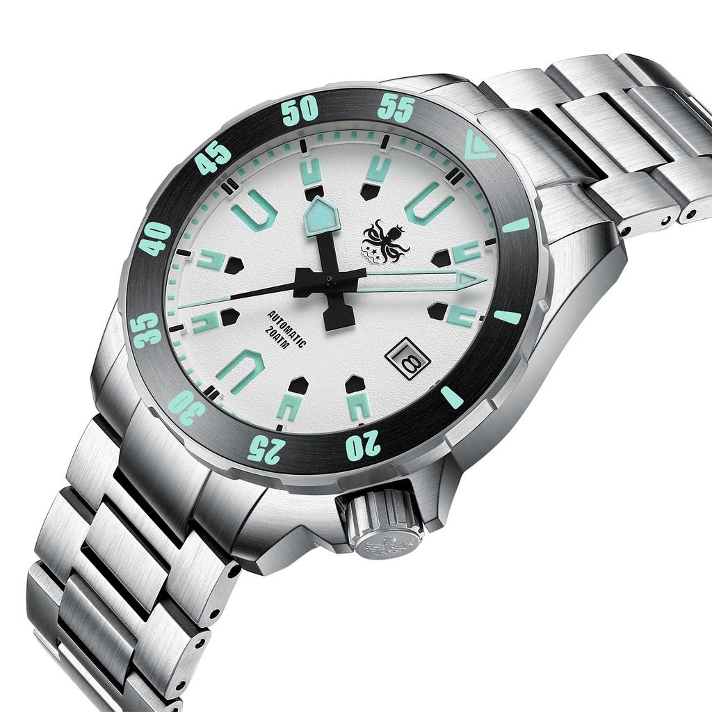 PHOIBOS APOLLO TITANIUM PY031F 200M Automatic Diver Watch White