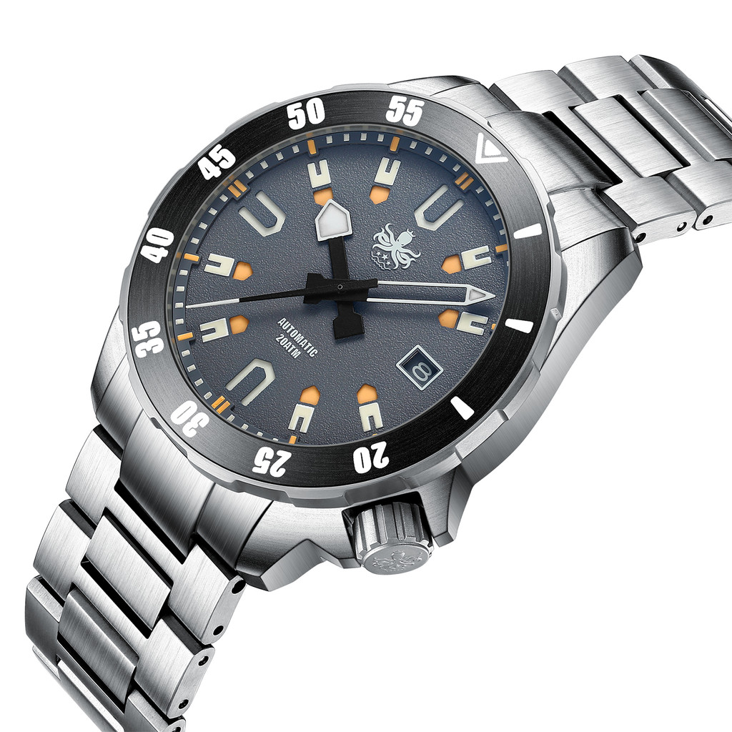 PHOIBOS APOLLO TITANIUM PY031G 200M Automatic Diver Watch Gray